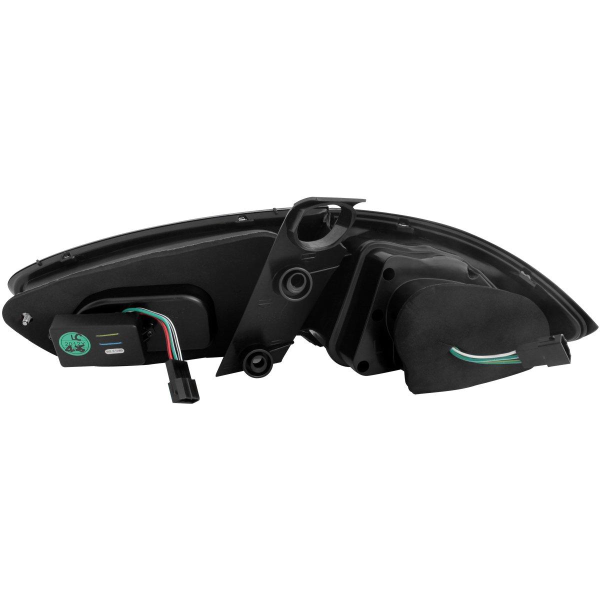 schwarz rauch Dectane RSI08LLBS carDNA LED R/ückleuchten Seat Leon Lightbar 09 und 1P1