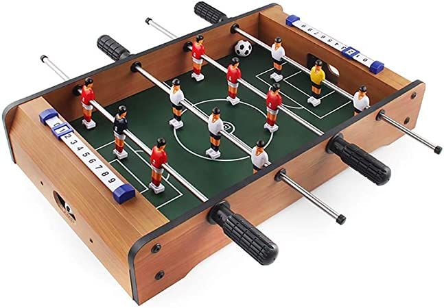 ZHJIUXING ZQ Portátil Futbolín de Mesa Juego Mesa de Fútbol Madera para Las Fiestas Juegos Entre Familia, Incluye 12 Hombres, 2 Bolas, 2 goleadores Regalo para niños: Amazon.es: Deportes y aire libre