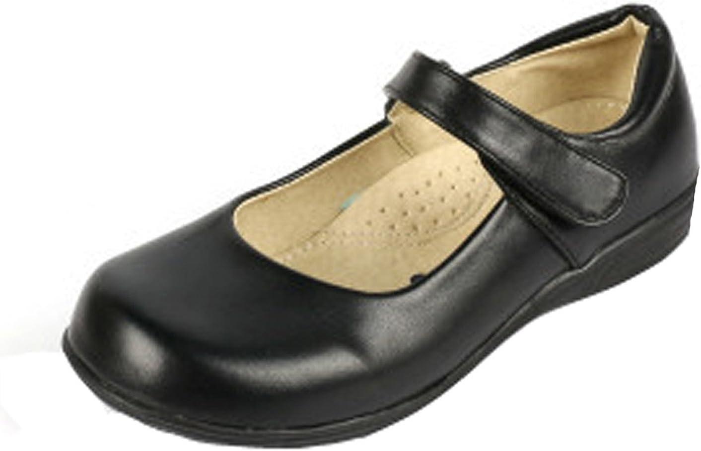 Little Kid//Big Kid PPXID Girls Mary Jane School Uniform Shoes Ballet Flats Black