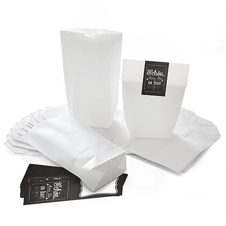 10 pequeñas bolsas de papel Bolsas papel kraft con suelo (14 ...
