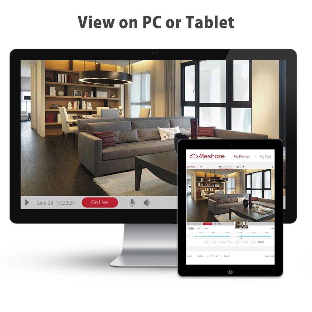 Funlux 720 P HD 1.000.000 píxeles cámara de seguridad juego de radio inalámbrica WI-FI IP con cámara de conexión de día y de noche y smartphone iPhone a ...