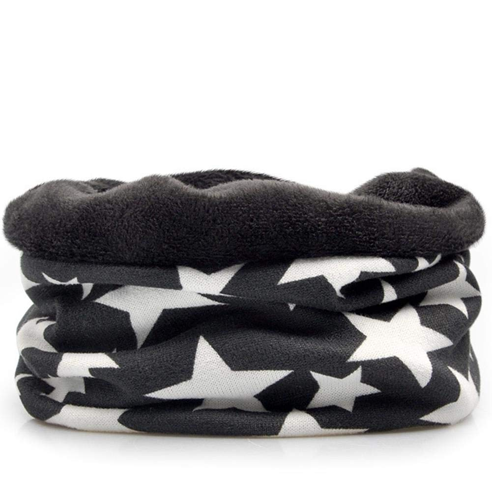 PROKTH Hoodie Neck Warmer Winter Windproof Warm Fleece Cap Cotton Cartoon Fashion Print Hat for Boys Girls