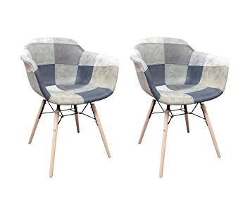 Meubletmoi sillones Patchwork Azul escandinava Vintage ...