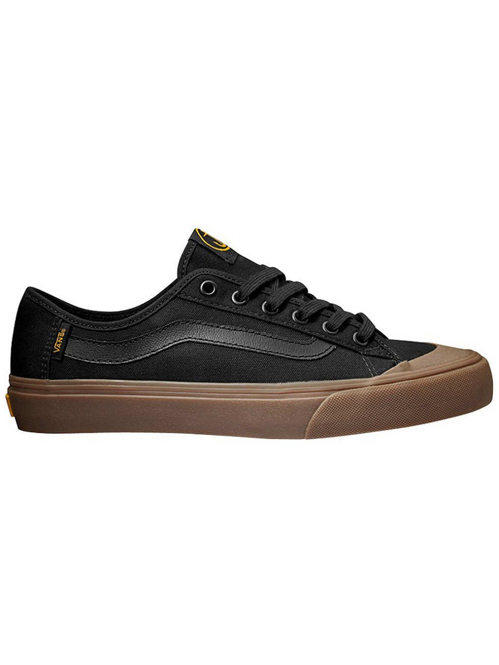 8a3845e241 Galleon - Vans Black Ball SF Captain Fin Black Gum Mens Shoes Mens  7.5 Womens 9