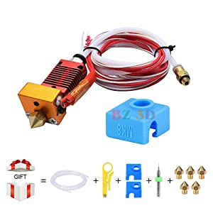BZ 3D CR-10 Hotend Assembly, 12V 40W MK8 Extruder Kit Original Replacement with Aluminum Heating Block 1.75mm, 0.4mm Nozzle for CR10/ CR-10S/ CR-10S4/S5 (12V 40W)