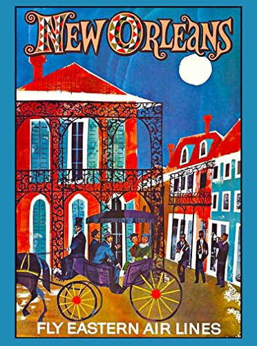 - A SLICE IN TIME New Orleans Fly Eastern Air Lines French Quarter Louisiana Vintage Airline United States of America Travel Advertisement Collectible Wall Decor Poster Print. Measures 10 x 13.5 inches