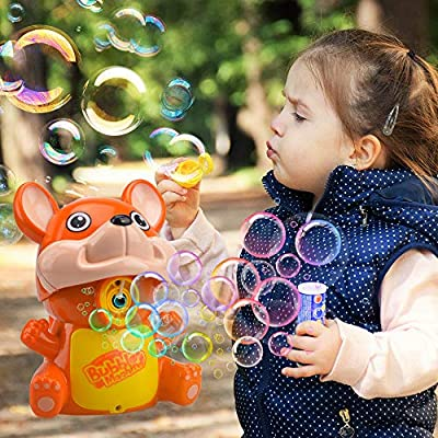 Kids Bubbles Toy Present for Girls Boys, Birthday Toy Gifts for Toddler Kids Age 3-7 Bubbles Maker Machine for 4 5 6 7 Year Old Boy Girl Child Squirrel Bubble Blower Gifts for Kid Boy Girl: Sports & Outdoors