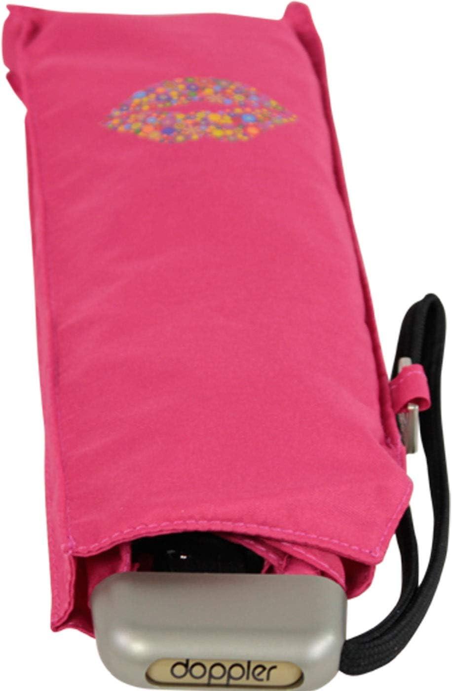 Pink Doppler Taschenschirm Carbonsteel Mini Slim Kiss