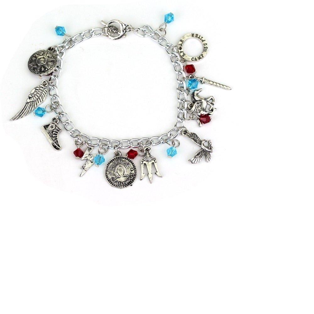 Ivy /& Clover Movie Entertainment TV Jewelry Collection Percy Pegasus Jackson Charm Bracelet