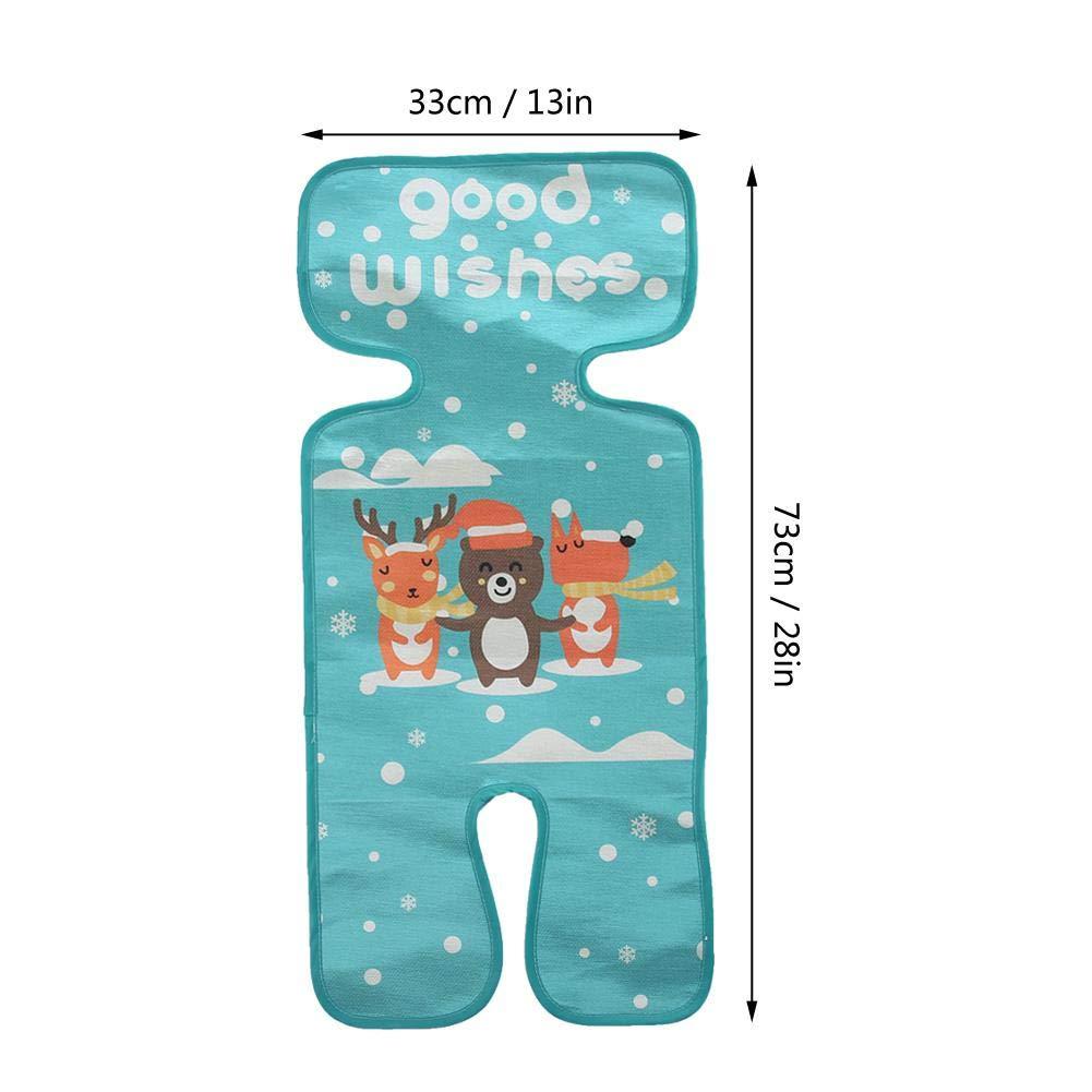 Mootea Stroller 5 Point Style Pad Pad Funda para asiento verano Cool Pram Sleeping Mat Ice Silk 01
