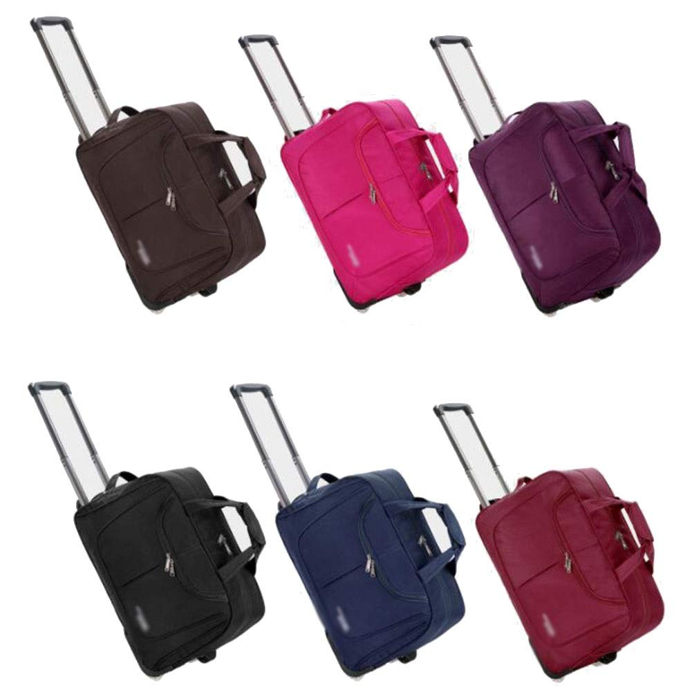 Color : Brown, Size : 22 Travel Bag Waterproof and Durable Luggage SuitcasesTravel Bags Trolley Case Carry On Hand Luggage Durable Hold Tingting