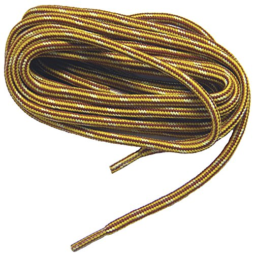 GREATLACES Yellow Gold Brown proTOUGH(TM) Reinforced Kevlar Heavy DutyBoot Laces Shoelaces (2 Pair Pack) (78 Inch 195 cm)