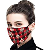 Gillberry Christmas Decorations Face Bandanas Unisex Fashion Reusable Washable Breathable Prints Headwear For Adults