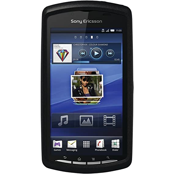 buy popular fb1c9 25f29 OtterBox Commuter Series Hybrid Case for Sony Ericsson Xperia Play - 1 Pack  - Retail Packaging - Black/Clear (Discontinued by Manufacturer)