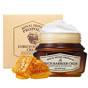 SKINFOOD Royal Honey Propolis Enrich Barrier Cream 2.13 fl.oz. (63ml) - 50% Black Bee Propolis & Royal Jelly Extract Contained Powerful Nourishing Facial cream, Skin Moisturizing & Firming