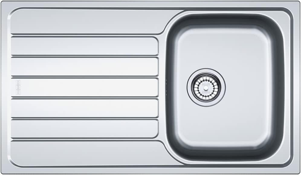 Franke 101.0331.025 SKL 611-86 Stainless Steel Single Bowl Kitchen Sink - Grey