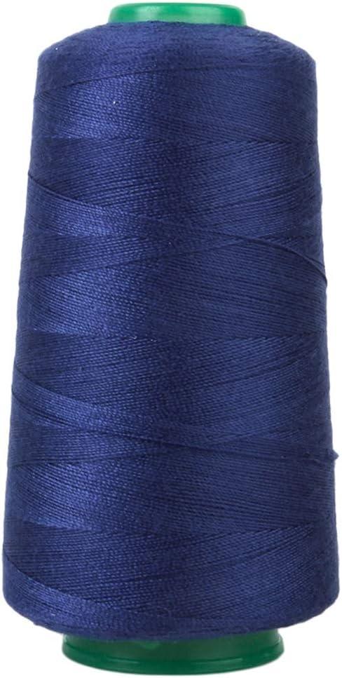 KEHUITONG Hilo de Coser los Pantalones Vaqueros 3000 Yardas for la tapicería, Mercado al Aire Libre, Cortinas, puntillas, Equipaje, Carteras, Bolsos, etc. (Color : Mavy Blue): Amazon.es: Hogar