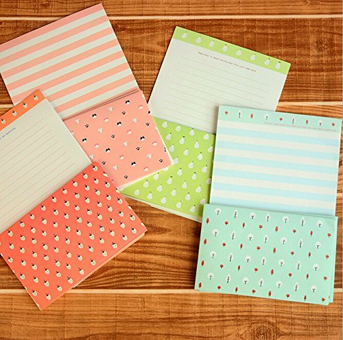 SCStyle 30 Cute Kawaii Lovely Special Design Writing Stationery Paper with 15 Envelope + 1 Sheet Label Seal Sticker (142x210mm)