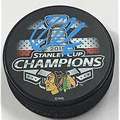 eff098271 Corey Crawford Chicago Blackhawks Autographed 2015 Stanley Cup Champion  Puck - COA Included Autograph