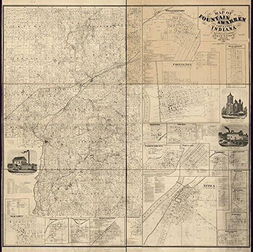 Vintage 1858 Map of the territory of the United States from the Mississippi to the Pacific Ocean; ordered by Jeff'n Davis, Secretary of War to accompany the reports of the explorations for a railroad route. United States