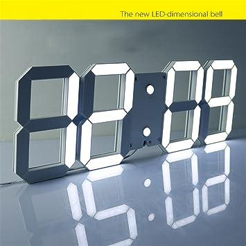ZHONBIAOA LED Reloj electrónico Creativo/Reloj de Pared/Reloj Digital Luminoso Moderno/Sala