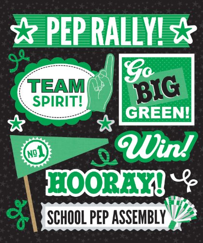 (K&Company Green Pep Rally Sticker Medley)