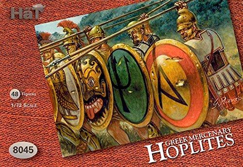 [HaT Set 8045 Greek Mercenary Hoplites - 48 figures Poses 8 poses - 1/72 scale plastic toy soldiers] (Toy Soldier Hat)