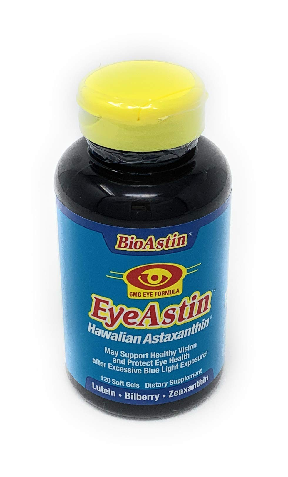EyeAstin BioAstin Hawaiian Astaxanthin - 120 Soft Gels - Supports Eye Health Naturally - A Super-Antioxidant Grown in Hawaii by NUTREX HAWAII