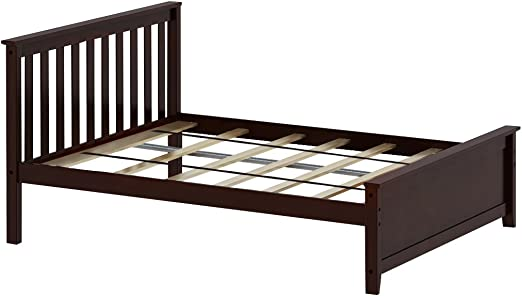 Amazon Com Max Lily Solid Wood Full Size Bed Espresso Kitchen