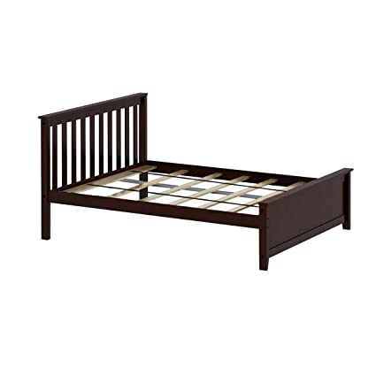 Amazon.com: Max & Lily Solid Wood Full-Size Bed, Espresso: Kitchen ...
