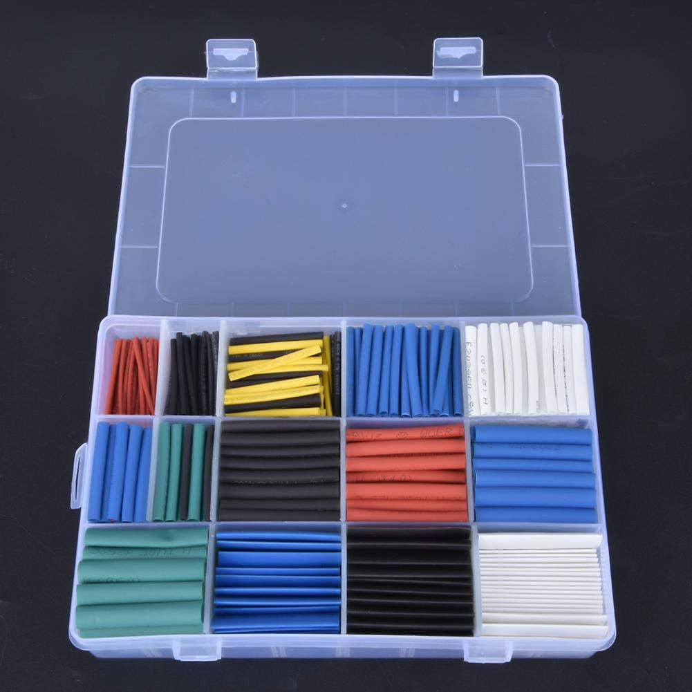 670pcs Waterproof Flame Resistant Insulated Polyolefin Wire Protection Accessories Heat-shrink Tubing