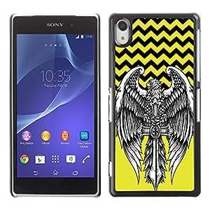 Dragon Case - FOR Sony Xperia Z2 - Will is power - Caja protectora de pl??stico duro de la cubierta Dise?¡Ào Slim Fit