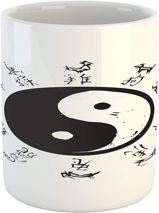Taza étnica, Yin y Yang Tao Símbolo Motivos animales chinos e ...