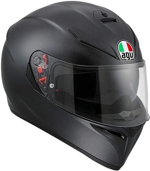 Amazon.es: AGV K3-SV Cara Completa Mate Negro Motocicleta ...