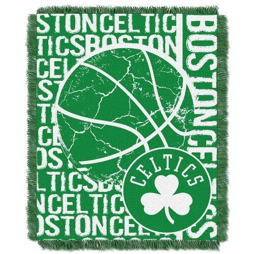 Northwest 019 NBA Boston Celtics Double Play Licensed Jacquard Triple Woven Throw, 48 x 60, Green