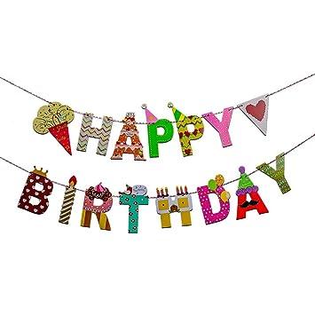 Amazon.com: Feliz Cumpleaños Party Celebración Decoración ...