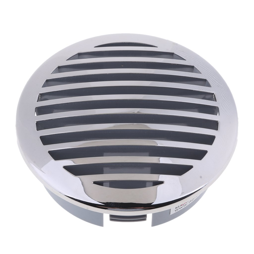 FLAMEER Round Louvered Vent 81933SS-HP Marine Boat Air Vent 316 Stainless Steel Caravan Vents