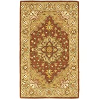 Safavieh Heritage Collection HG345A Handcrafted Traditional Oriental Rust and Gold Wool Area Rug (3 x 5)