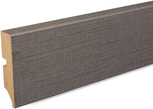 Fu/ßleiste 60 x 20 x 2.600mm Dekor Edelstahl Sockelleiste