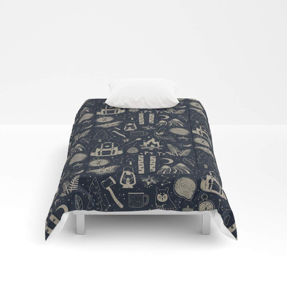 Society6 Comforter, Size Twin XL: 68'' x 92'', Into The Woods: Stargazing by camillechew