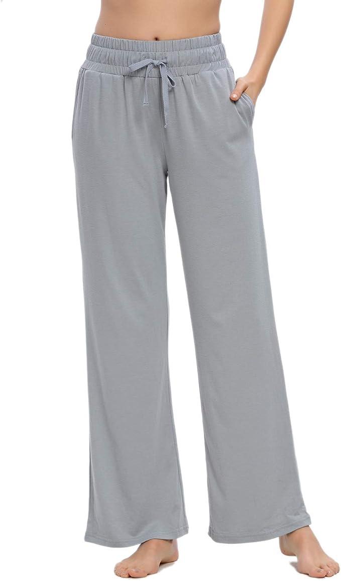 MINTLIMIT Pantalones de pijama con cord/ón estampado floral para mujer con bolsillos