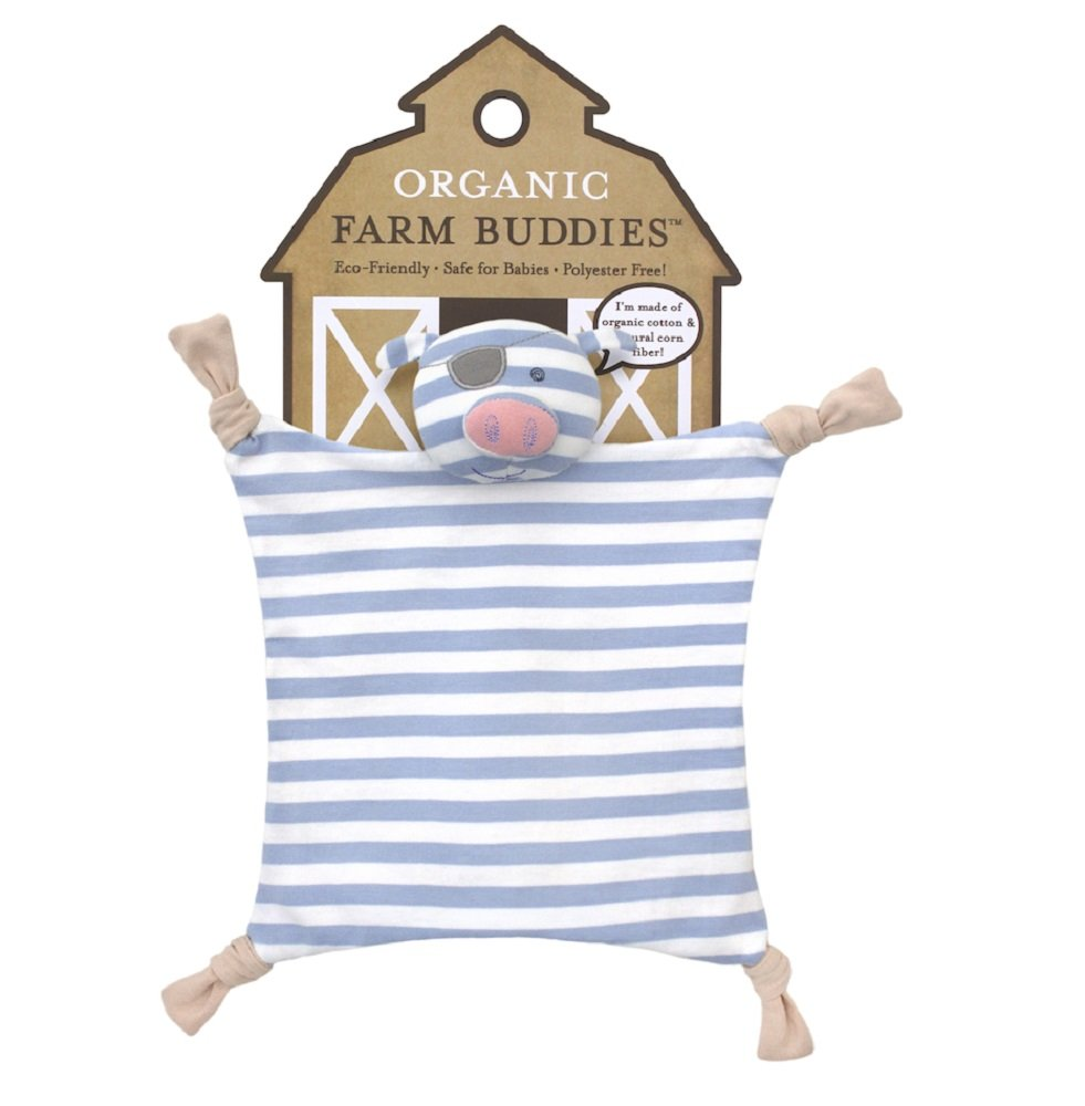 Organic Farm Buddies Blankie Pirate Pig
