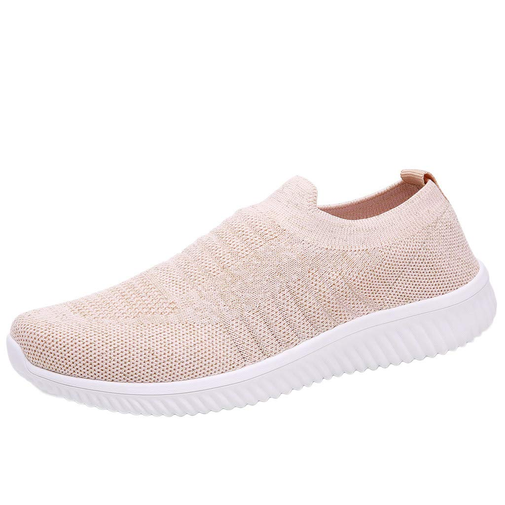 SMALLE ◕‿◕ Sneakers for Women Shoes, Women's Fashion Breathable Ultra Light Running Athletic Casual Shoes for Sport Gym Pink