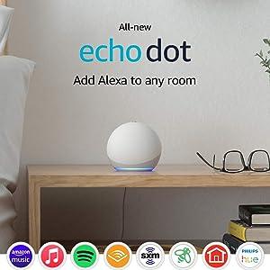 All-new Echo Dot (4th Gen) - Glacier White - bundle with LIFX Smart Bulb (Wi-Fi)