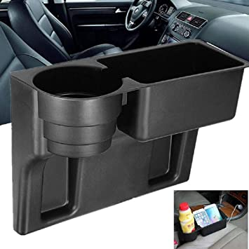 1PC Universal Auto Seat Seam Wedge Car Drink Cup Holder Drink Mount Stand Black