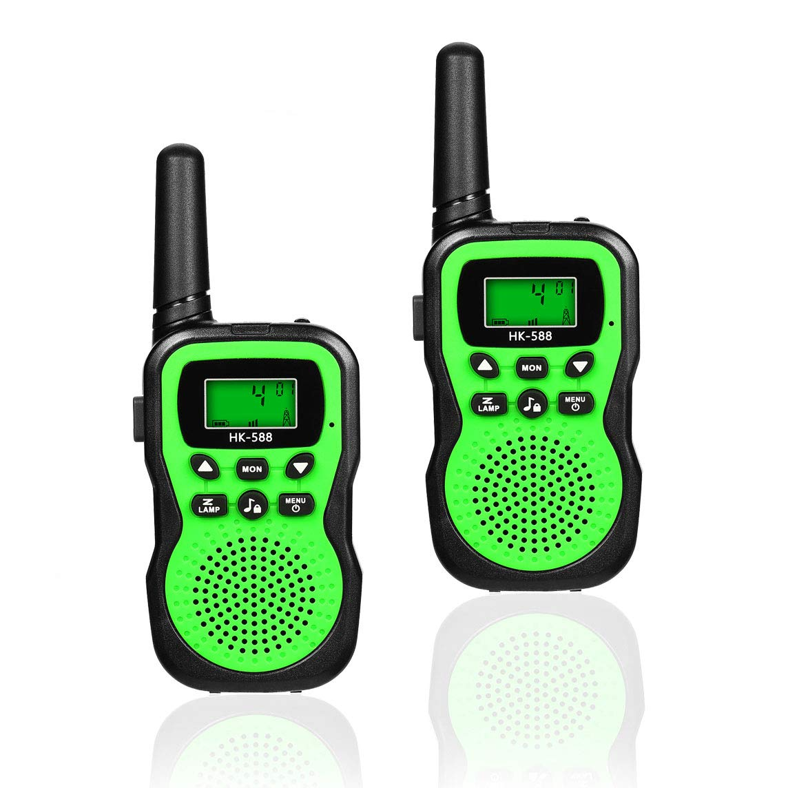 Best Gifts for Kid, JRD&BS WINL Toys Walkie Talkies for Kid,Fun Toys for 4-5 Year Old Boys,Kid Toys for 6-10 Year Old Travel Hunting,HK-588 1 Pair(Green)