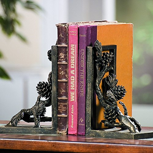 SPI Home Aluminum Pinecone Bookends Pair ()
