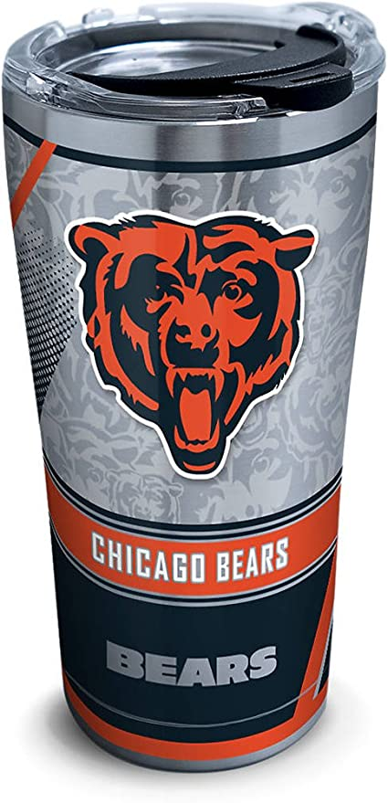 af566c846175c Image Unavailable. Image not available for. Color  Tervis 1266031 NFL  Chicago Bears Edge Stainless Steel Tumbler ...