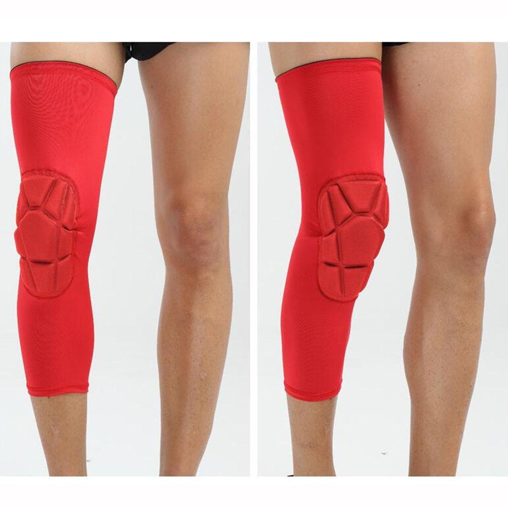 FJYバスケットボールHoneycomb膝パッドLeg Sleeve Kneepads Crashproofスポーツ膝ブレースGuards for Workoutsサッカー、バレーボール、サイクリング、Shoot、ランニング、サイクリング、ハイキング、( 1pair ) B07BKQKMCQレッド Medium