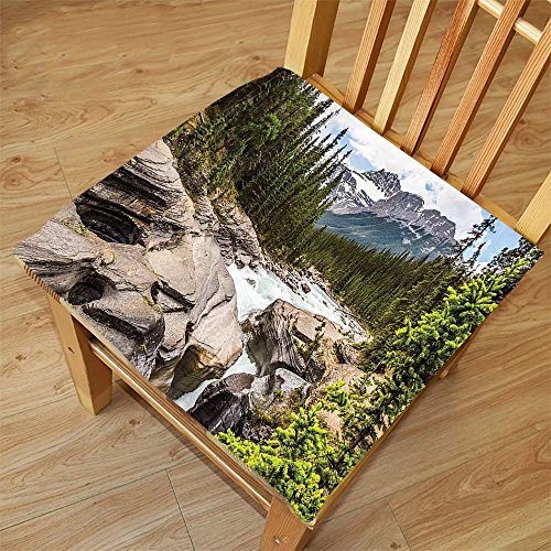 Nalahome Set of 2 Waterproof Cozy Seat Protector Cushion Americana Landscape Decor River Float in Forest Northern Recreation Camping Rafting Woods Print Multi Printing Size - Sunglasses Rafting